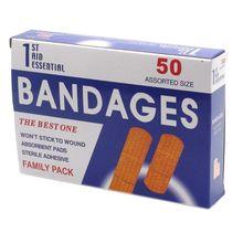 50Pcs/Box Breathable Anti-Bacteria Adhesive Wound Paster Bandage Sticker Medical Healing Band Hemostasis First Aid Kit Supplies