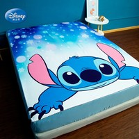 Disney Cartoon Lilo and Stitch Bed Cover Mattress Cover for Bed 1.2m 1.5m 1.8m Fitted Sheet for Boys Girls Bedroom Decor