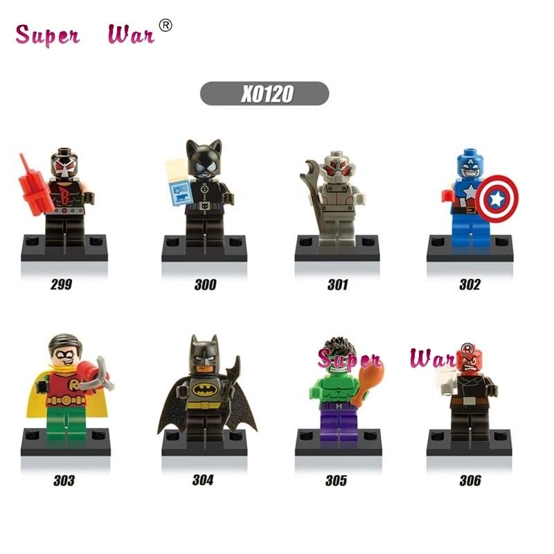 8pcs star wars super heroes marvel avengers Batman Catwoman Bane Robin building blocks  set model bricks toys for children