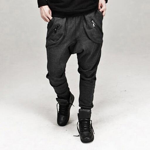 New Fashion Mens Joggers Sweatpants Jogger Pants Men Casual Baggy Hip Hop Harem Pants Solid Trousers 13M0186