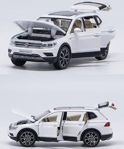 Image 1 - 1:32 alloy pull back car toys, high imitation Tiguan L,open door music &flash& toy vehicles, wholesale