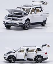 1:32 alloy ziehen auto spielzeug, hohe nachahmung Tiguan L, offene tür musik & flash & spielzeug fahrzeuge, großhandel