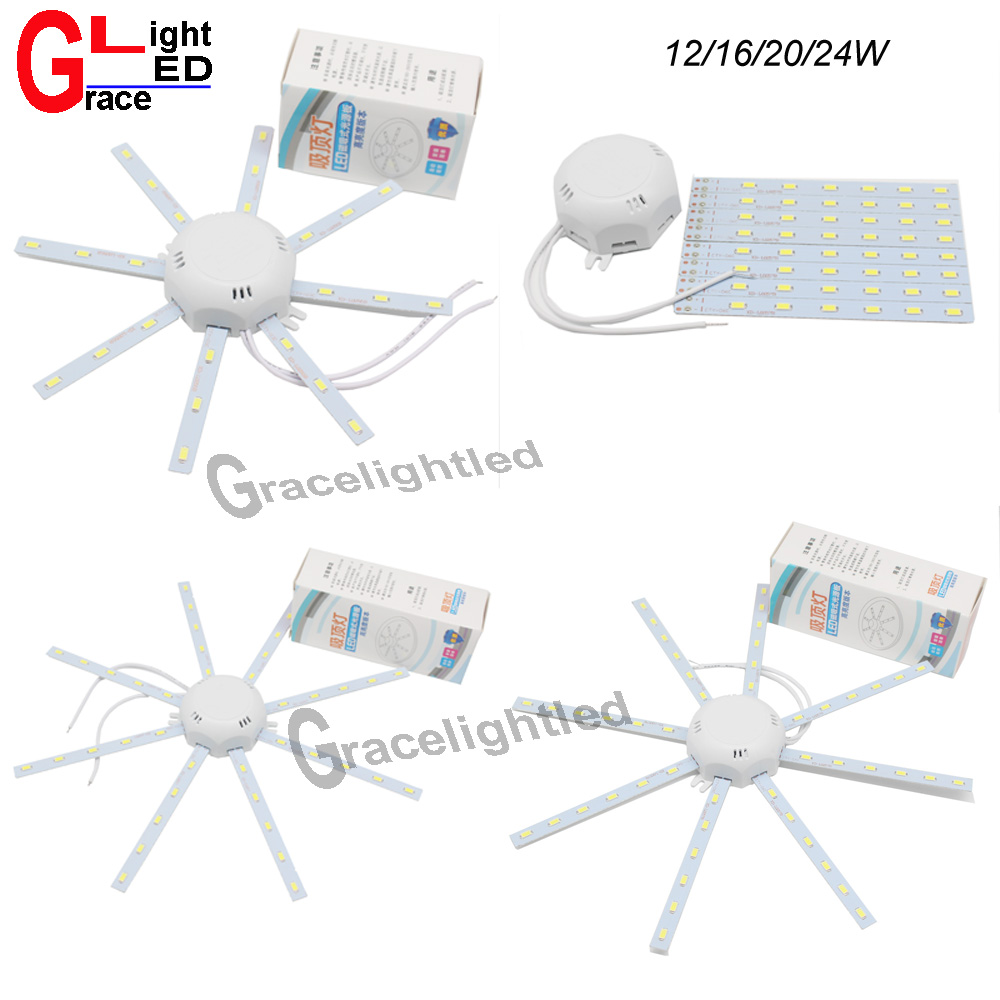 Ingenious 1pcs Modern Designer 24/20/16/12 W Led Ceiling Lamp Cool White Modified Light Energy Saving 200-240v Ac Input With Transformer Lighting Accessories