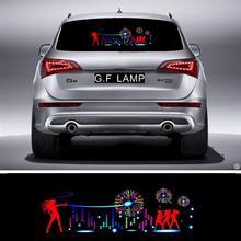90*25cm Fireworks Flash Car Sticker Music Rhythm LED EL Sheet Light Lamp Sound Music Activated Equalizer