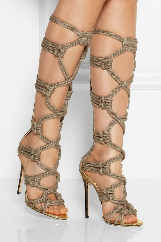 new fashion sexy rope braided knee high boots summer cut-outs gladiator sandal boots woman high heel boots new arrival knee high boots cross strap cut outs gladiator sandal boots suede open toe lace up sandals summer women flat shoes