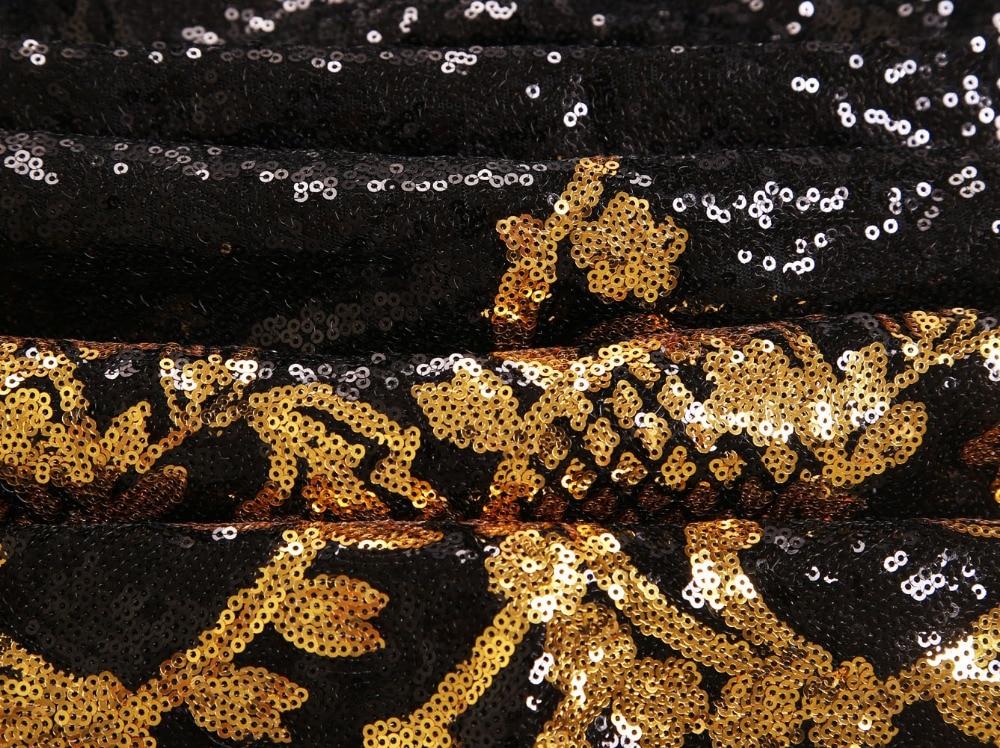 Cienījamie mīļākie kleitas kleitas puse melnā zelta / sudraba - Sieviešu apģērbs - Foto 6