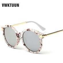 VWKTUUN Classic Korean Sunglasses Women Oversized Metal Arrows Sunglass