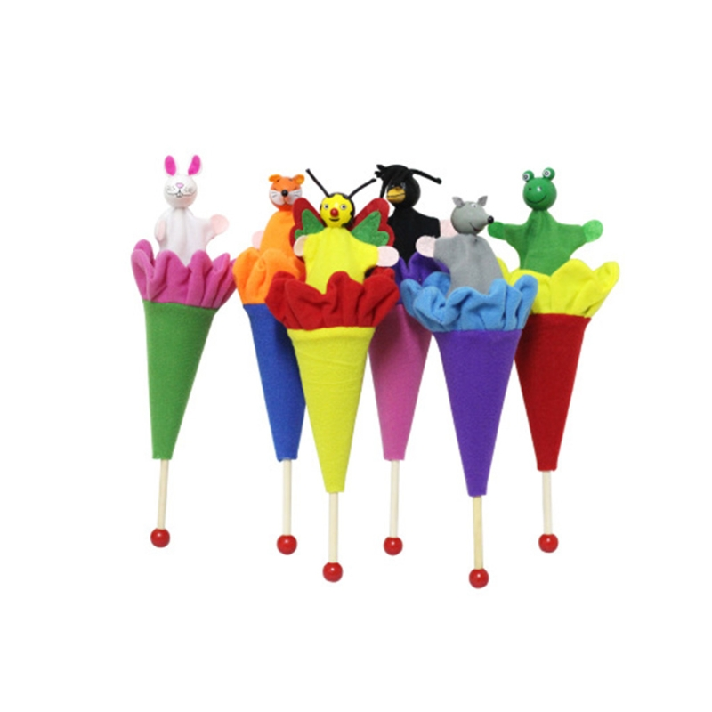 6pcs Animals Puppets Hide & Seek Baby Kids Pop Up Cone Toy Educational Toy Oct20-B