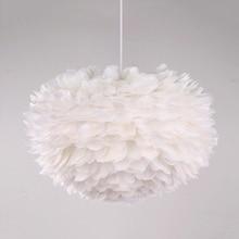 Modern Pendant Lights E27 Feather Romantic Pendant Lamps Bedroom Living Room Lighting Hanging Lamps Goose Suspension Luminaire недорого