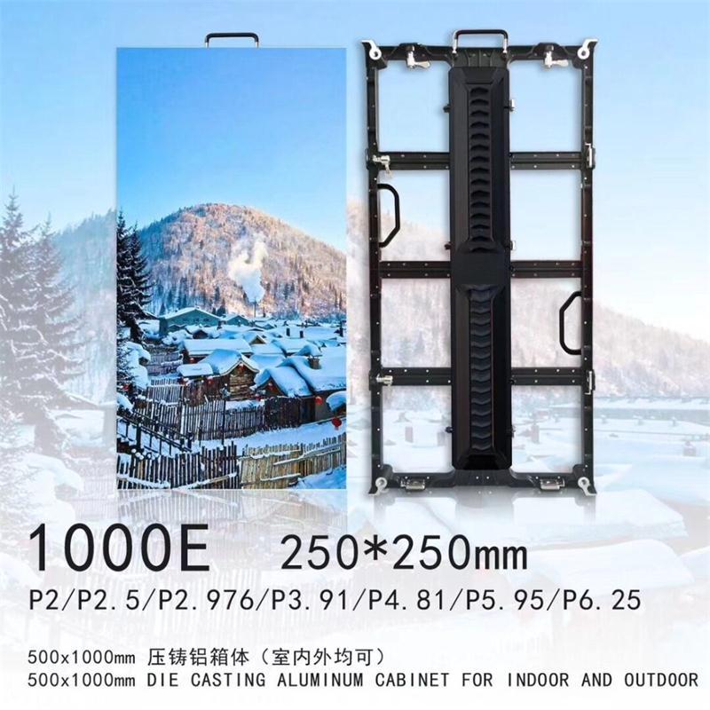 64*64 Google Pixel 3.91 500x1000 Empty Die Casting Aluminum Cabinet P3.91 P4.81 Led Module Led Video Wall