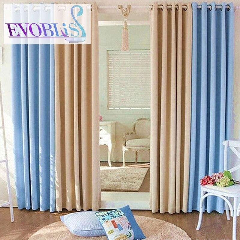 moderno minimalista gruesa de doble cara tela de la cortina blackout cortinas para la sala de