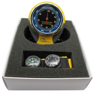 Image 5 - ميزان حرارة لقياس الارتفاع في الجبال الخارجية مقياس حرارة بوصلة بارومتر ميزان حرارة ميكانيكي حلقة تسلق بأربعة في واحد