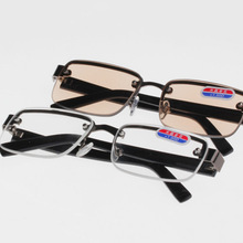 Eyewear Reading-Glasses Classic-Style Mirror Lenses Rimless Women 0 Plain Unisex