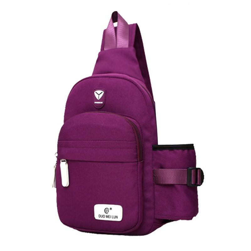 2018 New Crossbody Bolsas de pecho de mujer Casual Coreano Messenger Cross Body Bag Bolsos de hombro Bolsos de mujer Bolsos de mujer
