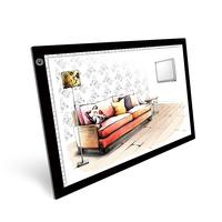 A3 LED Light Box Tracing Copy Board Painting Writing Table Digital Drawing Graphic Tablet Three level Dimming LED Light Pad Box