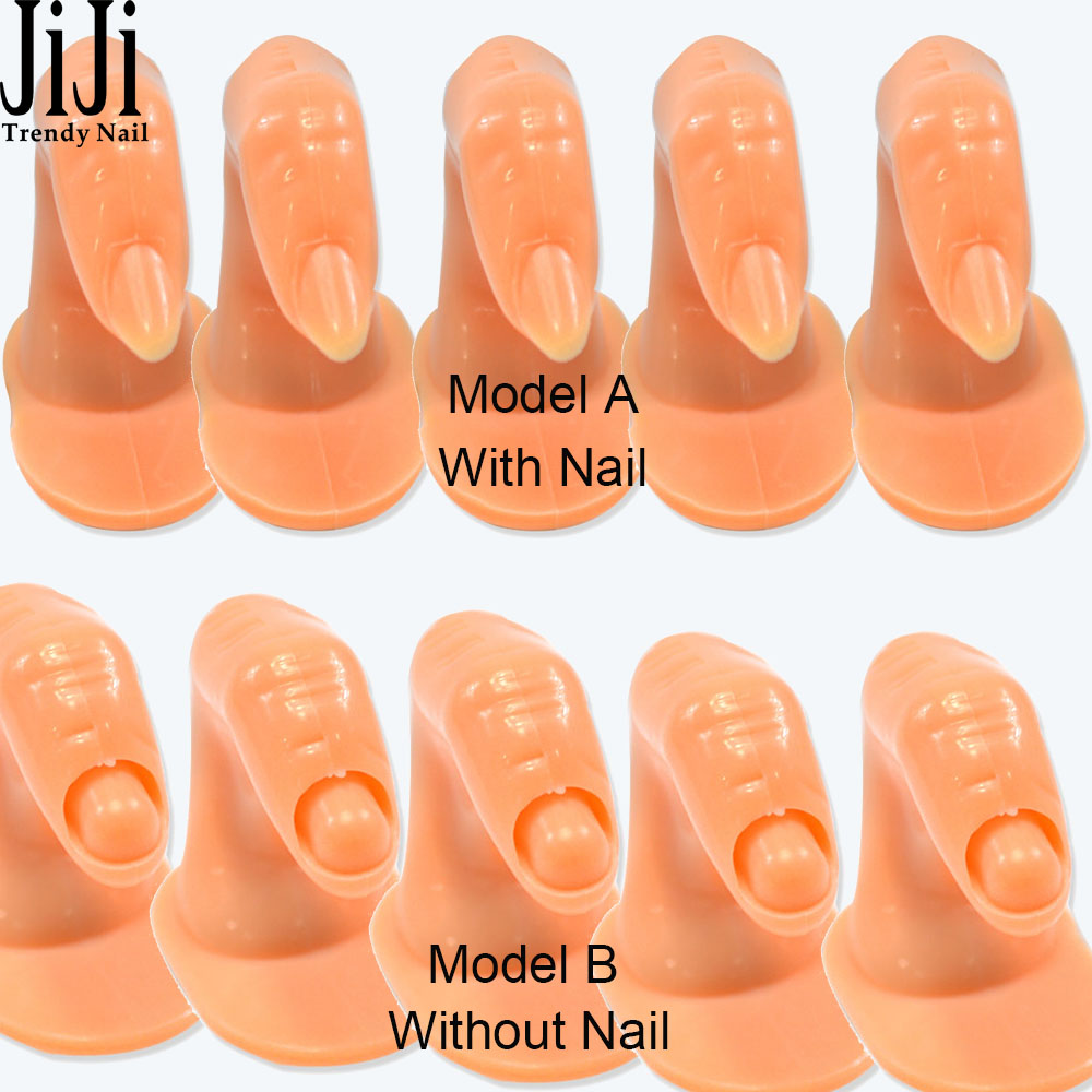 Trendy Nail 5pcs/lot Plastic Fake Fingers Model Practice Training ...