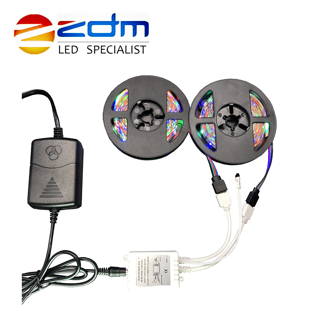 Led Lighting Zdm Rgb Led Strip Light2m/3m/4m/5m/6m/10m 3528 Smd Non Waterproof Led Light Ip20 Flexible Led Strip Adapter Remote Rgb Full Set Led Strips