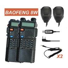 Портативная рация 2 шт. Baofeng UV-8HX 3800 мАч Батарея двухдиапазонный УКВ частот pofung UV5R любитель Портативный Радио UV-5R ptt