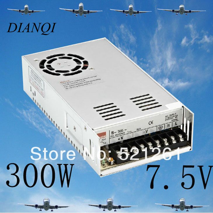 S-300-7.5 power suply  ac to dc power supply 7.5v 300w ac dc converter    adjustable output voltage cps 6011 60v 11a digital adjustable dc power supply laboratory power supply cps6011