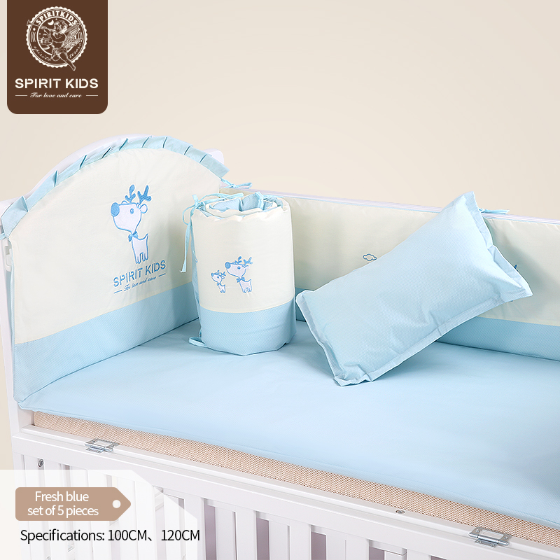 Baby bedding sets 5 piece set soft and comfortable for girls and boys breathable close skin No fluorescent agent