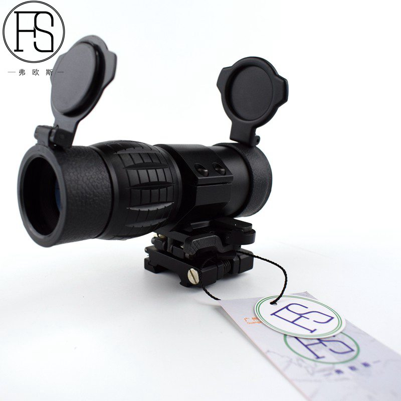 Hot Sell Airsoft 3X Magnifier with Switch To Side STS Quick Detachable / QD Mount Black