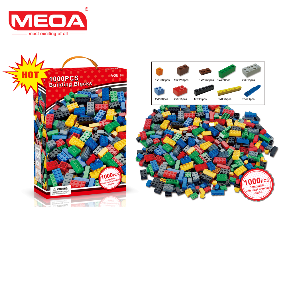 1000 Pcs Building Bricks Set DIY Creative Brick Kids Toy Educational Building Blocks Bulk Compatible With Brand Blocks 1000pcs bulk bricks educational children toy compatible with major brand blocks 10 colors diy building blocks creative bricks
