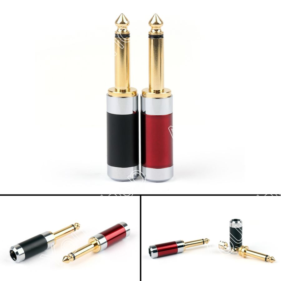 Areyourshop Sale 20Pcs Rhodium Plated Carbon Fiber Body Gold Plated 6.35mm Mono Male Plug MIC Jack Mini Plugjack колготки женские filodoro classic oda 40 elegance цвет nero черный c113128fc размер 5 maxi xl