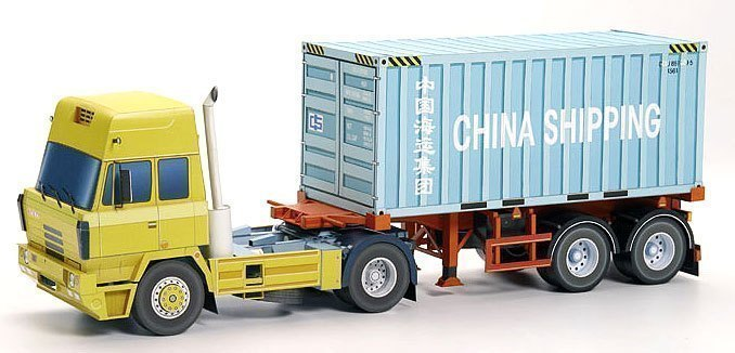 Superfine Paper Model Of Container Truck