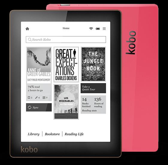 E-book Kobo Aura lecteur d'ebook e-ink 6 pouces résolution 1024x758 N514 Intégré Avant Lumière e Lecteur de Livre wiFi 4 GO de Mémoire