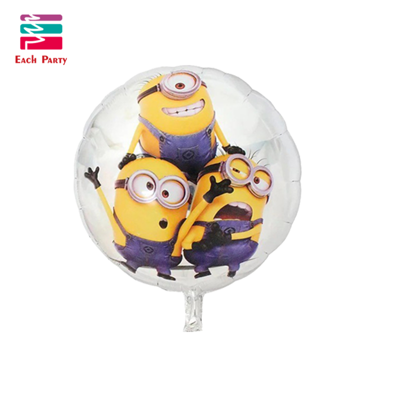 5pcs cartoon balls  Minions Foil Balloons Inflatable toys Helium Balloons classic toys Birthday balloons Party Supplies 18inch