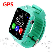Waterproof Children Smartwatch Security Anti Lost GPS Tracker Smart Watch V7K With Camera Facebook Kids SOS Baby Monitor(China)