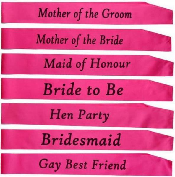 hen party bride to be sash bridal shower wedding hen night party