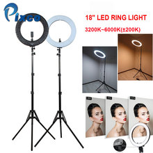 Pixco 3200K-6000K 480 LED 18 inch Ring Light Dimmable For Studio Photography Lighting Makeup for Youtuber Cooling hole