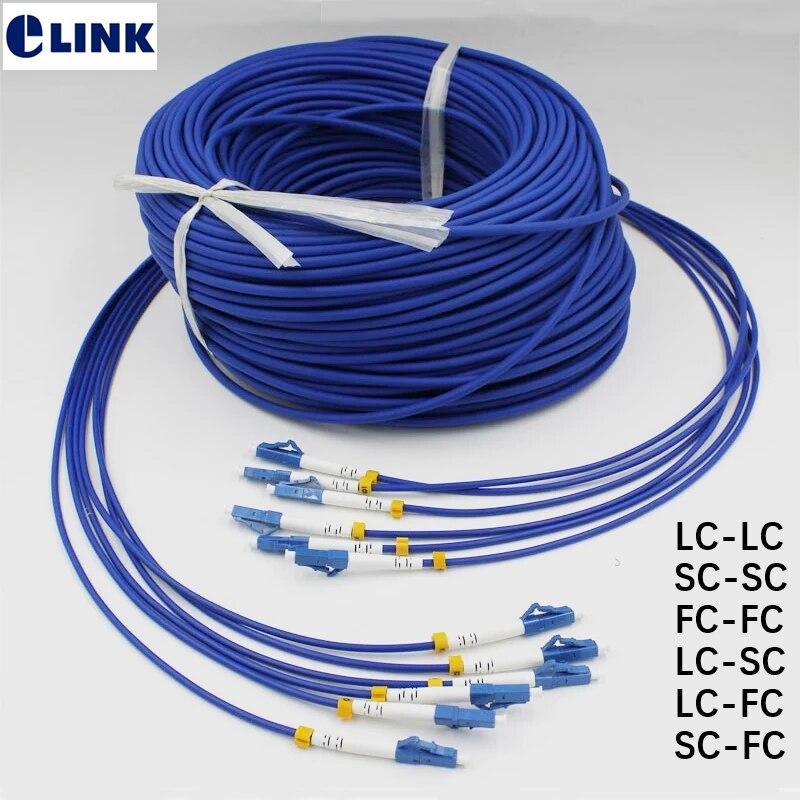 3mtr 6-жильный бронированный волоконный коммутационный шнур SC LC FC ST UPC APC одноволоконный бронированный волоконно-оптический волоконный соедин...
