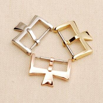 цена Stainless Steel Watch Clasp For VC Vacheron Watch Strap Buckles Constantin 16MM 18MM Silvery Golden Rose gold Metal Pin Clasp онлайн в 2017 году