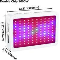 Полный спектр светодиодный растут огни 1000 W высокой Мощность двойной чип 10 W для медицинские растения овощей и цветения Friuting