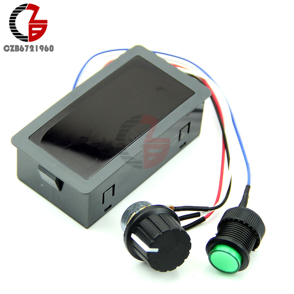 Red LED Display Digital DC 6V-30V 12V 24V 6A 8A Motor Speed Controller Adjustable 16kHz PWM Regulator CV Governor Control Switch dc 6v 90v 15a pwm motor speed control switch governor green black