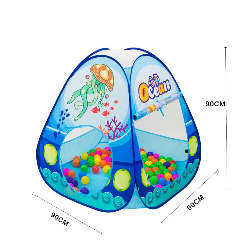 Folding-Kids-Pool-Tube-Teepee-Toy-Tents-Pop-up-Baby-Crawling-Tunnel-Huge-Game-Yard-Ocean