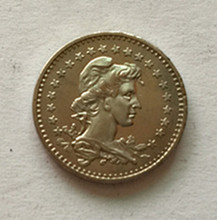 1935 Brazil 50 Reis Copper-Nickel Coin