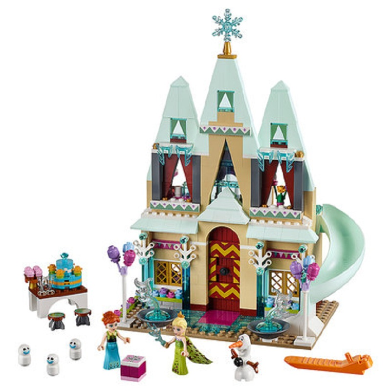 Galleria fotografica JG303 Anna Elsa Snow Queen Arendelle Castle Building Blocks Mattoni Serie Principessa Giocattolo Educativo Compatibile Con <font><b>Legoe</b></font> Amici