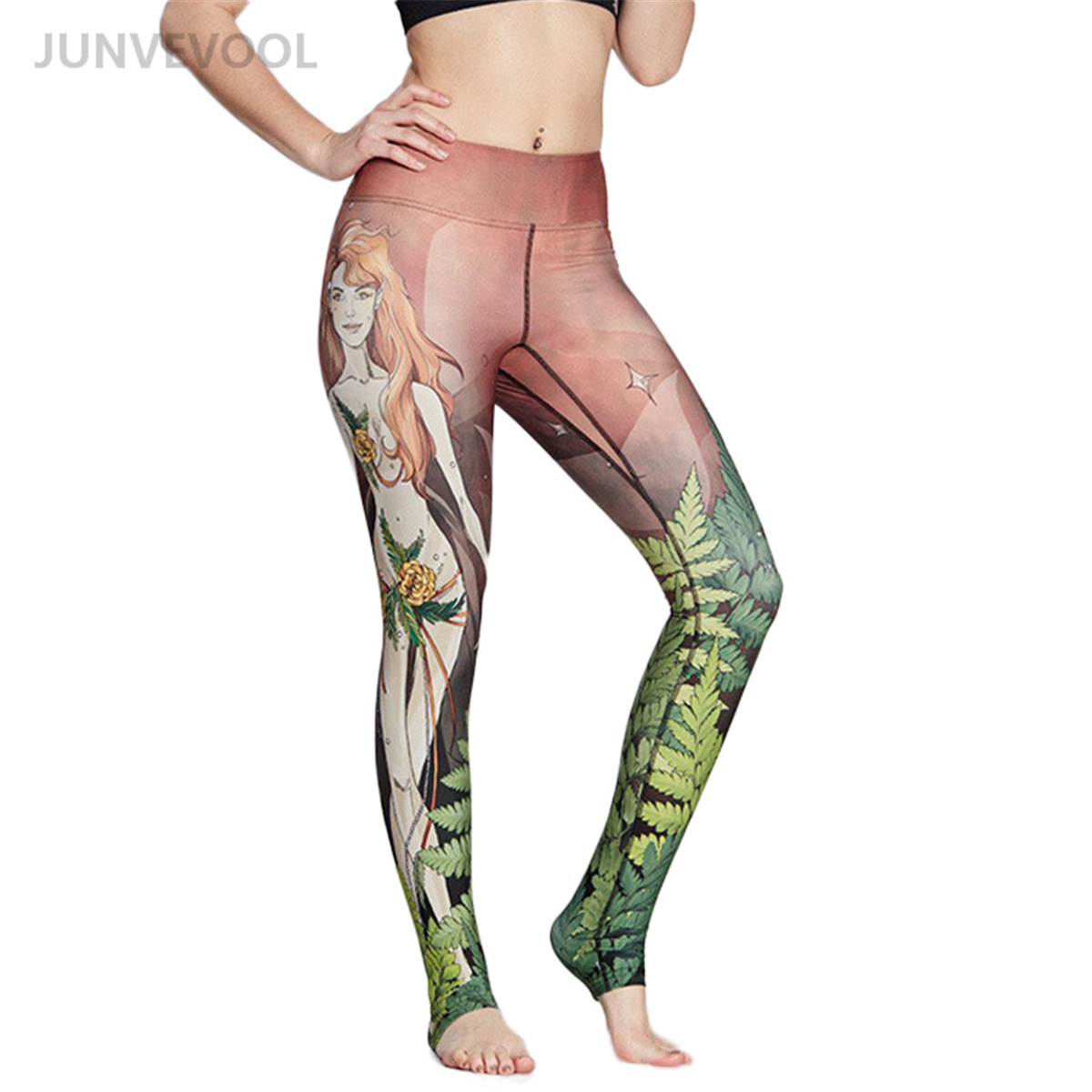 Готический Леггинсы для женщин Для женщин сексуальные печатных тренировки Фитнес леггинсы в стиле панк-рок женский Harajuku брюки эластичные Н...