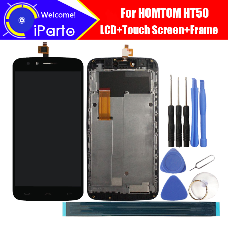 5.5 inch HOMTOM HT50 LCD Display+Touch Screen + Frame 100% Original Tested Digitizer Glass Panel Replacement For HT50 Phone.(China)