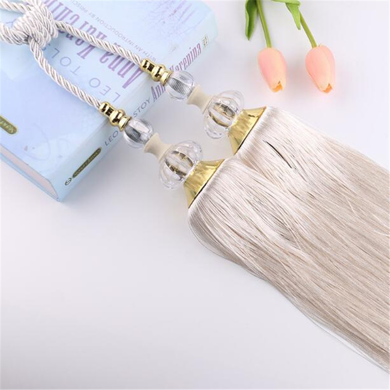 Hot Curtain Tassel Tieback Clips Buckle Hanging Ball Tie Back Straps <font><b>Holders</b></font> Accessories Home Decoration