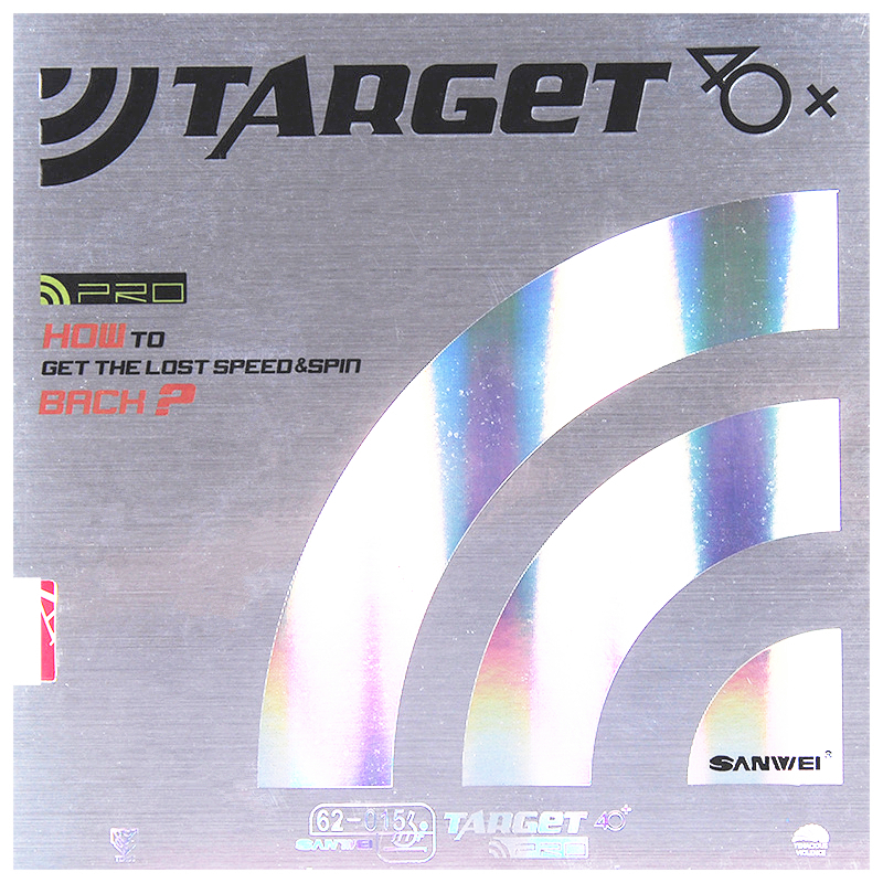 SANWEI TARGET Table Tennis Rubber PRO FX Europe 40+ Unsticky Control Spin Ping Pong Tenis De Mesa