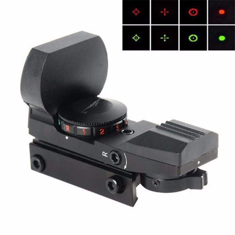 20mm Rail Riflescope Jakt Optics Holografisk Red Dot Sight Reflex 4 - Jakt - Foto 5