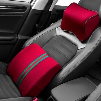 Speicher Schaum Auto Kopfstütze Nacken Kissen Lenden Set Auto Sitz Taille Rest Unterstützung Memori Kissen Universal Größe Kopf Protector
