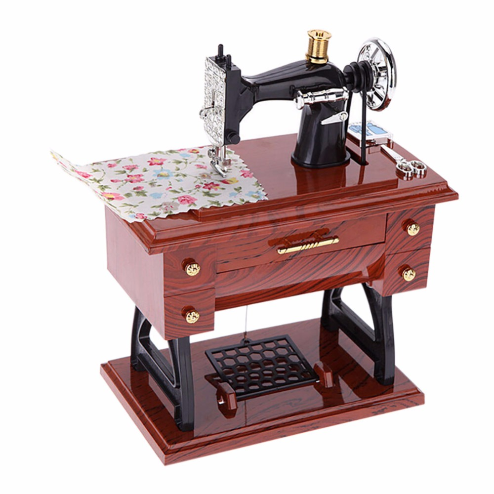 popular decorative sewing machine buy cheap decorative sewing creative simulation sewing machine music box decoration for home living room bedroom gift for kids birthday