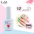 12 Pcs 15ml Gel artist Soak Off Uv Nail Gel Lacquer Polish DHL For Free Shipment 602 Colors Professional Lacquer Nails Gel Set