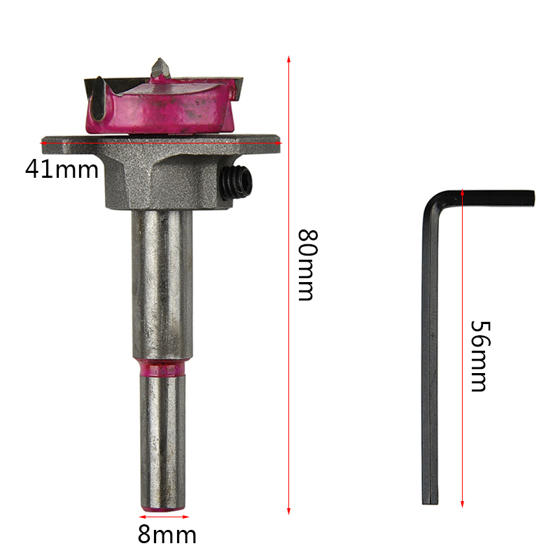 1pc 35mm Forstner Bit Drill Bits Professional Forstner Woodworking Hole Saw Woodworking Core Drilling Hinge Cutter Boring cemented carbide 35mm hole saw woodworking core drill bit hinge cutter boring forstner bits tipped drilling tool hex wrench