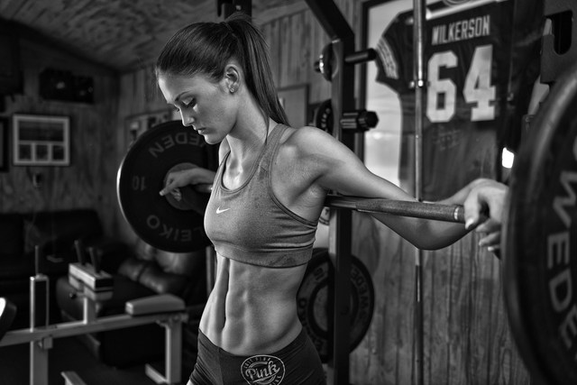 home decoration sports fitness model women silk fabric poster print